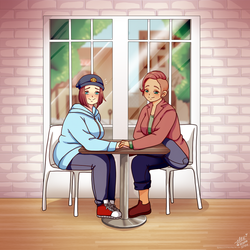 Cafe Cuties-Commission by shock777