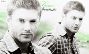 Dean Winchester in black and green by LiFaAn