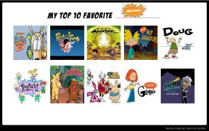 My Top 10 Favorite Nicktoons by dwaters220