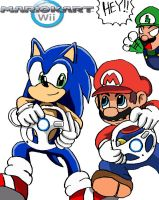 Sonic in Mario Kart? by ss2sonic