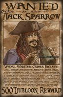 Wanted - Jack Sparrow by missypena