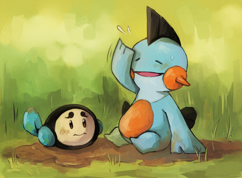 pkmn mud bath by boyvirus
