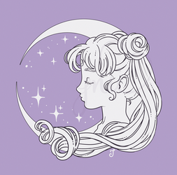 moon princess by milkbunnii