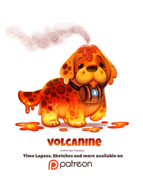 Day 1382. Volcanine by Cryptid-Creations