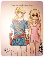 LinkxZelda by Kisarasmoon