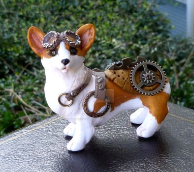 Steampunk Corgi by MysticReflections