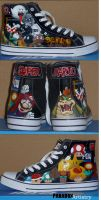 Good vs Evil - Mario Shoes by Paradox-Artistry