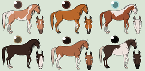 Chestnut Horsie Adopts|CLOSED| by derp8675309