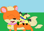 Bella hugs Donnie by LisaDots123