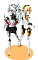 Aigis and Labrys (And speedpaint) by Final-Boss-Emiko