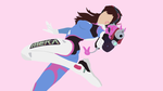 D.Va Vector Art Wallpaper by WalidSodki