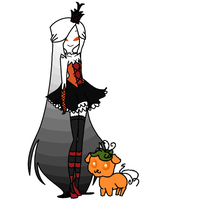 Ask Princess Halloween and Pumpkin Puppy by PanSearedBiscuits