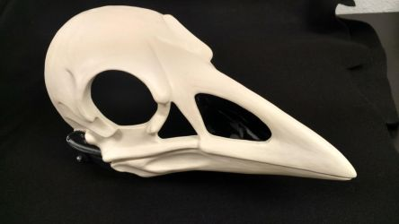 Cut and Hinged Skeletal Crow Mask by DreamVisionCreations