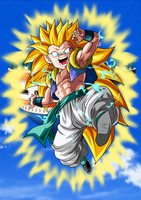 Gotenks Super Saiyan 3 (Fondo) by ChronoFz