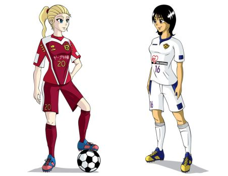 Soccer Girls by animemagix
