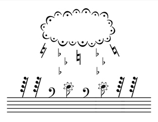 Musical Rain Stencil by SprayPaintScience