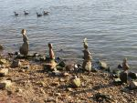 Stone Sentinels along the Shore by Malintra-Shadowmoon