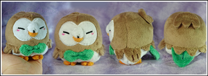 Tiny Rowlet Custom Plush