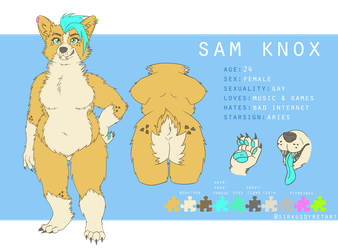 Sam Knox - Ref-sheet by issabissabel