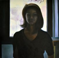 Shadow, 2011, 100-100cm, oil on canvas by oanaunciuleanu