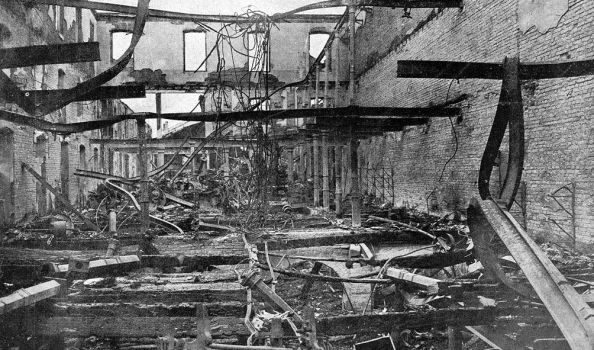 Ruined factory after combat, 1924. by Gukpard