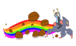 Rockblast rainbow by CasFlores