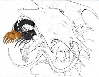 Black Dragon WIP by lonespirits