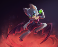 Rouge the Bat by Day-Dream-Fever