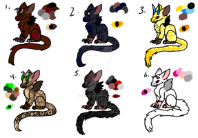 6 Trico adopts (3/6 OPEN) by Darkfury1087