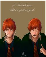 Weasley Twins by DimitraDakaki