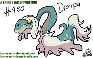 A third year of pokemon: #780 Drampa