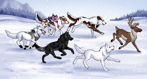 Run Run Rudolph by NorthPaws