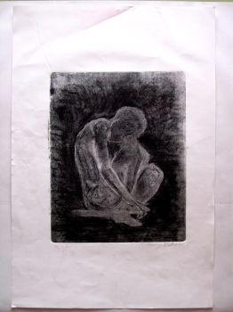 Monoprinting (12) Relief Print w: Charcoal rev by NotLockedUp