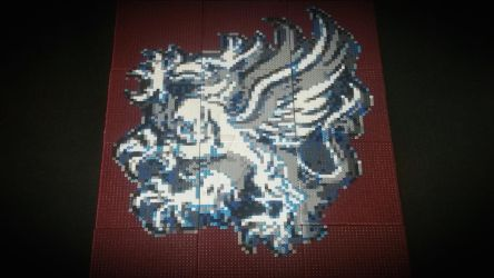 Dragon Age - Grey Warden Heraldry - Bead Art by Karma-Pudding