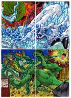 Kaiju Combat Card Set 2 by fbwash