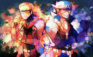Team Aqua and Team Magma by LadyKuki