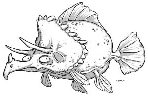 Triceratops Fish 2 by Kennon9