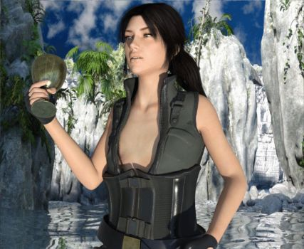 Tomb Raider Breast Expansion (GIF) by CAHunk100