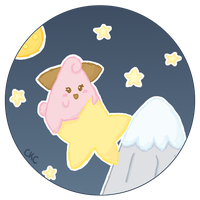 173- Cleffa on a Shooting Star