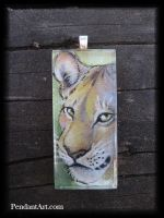 Savannah Queen - Glass Pendant by thornwolf