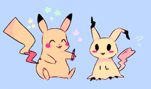 pikachu and mimikyu by da-oko