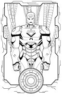 Extremis Iron Man Inks by thelearningcurv