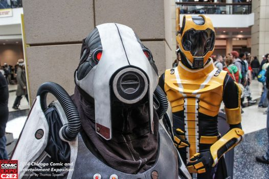 Volus and Salarian at C2E2 2 by RebelATS