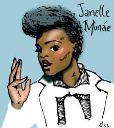 Janelle Monae by WillBarks