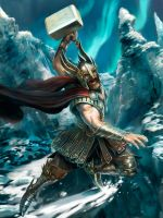 Thor the Norse God - stage 2 by m0zch0ps