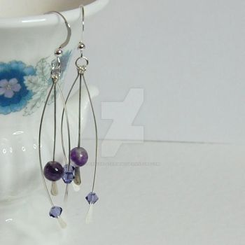 Fluorite Earrings by crystalstargems
