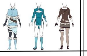 Adoptables outfit set 17 CLOSED by HardyDytonia
