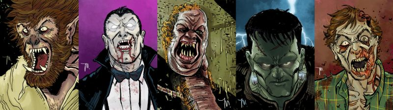 StockTober Monster Sketch Cards by jessemunoz