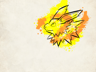 Jolteon Sketch by CornyGoose82