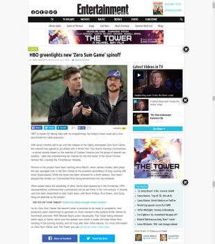 Entertainment Weekly web news by nottonyharrison